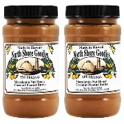 【2個】North Shore Goodies - The Original Macadamia Nut Honey Coconut Peanut Butter Made in Hawaii -...