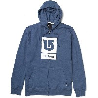 BURTON(バートン) Logo Vertical フルジップパーカーHeather Team Blue(US:S)