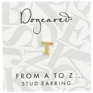 [ドギャード] DOGEARED from a to z earring, GD, little T V3GGZ00211904
