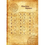 Alphabet Enoch parchment poster wicca pagan print art witch magick runes アルファベットエノク羊皮紙のポスターウィッカの異教のプ...