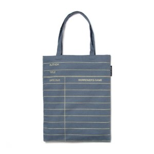 【Out of Print】 Library Card Tote Bag (Grey)