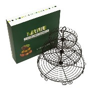 12 Stainless Steel 3-Tier Countertop Fruit Cake Basket Stand Cupcake Stand (Black) by MRNIU