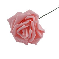 YideaHomeバラ 造花 ローズ 薔薇 結婚式 パーティー 5セット(ピンク)