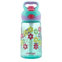 Contigo Autospout Kids Striker Water Bottle, 14-Ounce, 水筒 ウルトラマリン フラワー 420ml