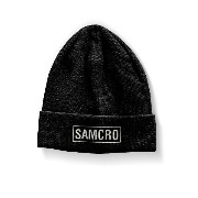 Sons of Anarchy ビーニーハット Cap Samcro Embroidered logo 新しい 公式 ブラック