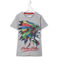 Philipp Plein Kids - Feathers Tシャツ - kids - コットン - 8歳