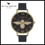 【お買い得】OLIVIA BURTON /BIG MOULDED BEE BLACK DIAL GOLD Olivia Burton(オリビアバートン) バイマ BUYMA