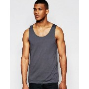 ASOS エイソス Relaxed Vest In Washed Black