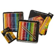Prismacolor プリズマカラー スターターキット 色鉛筆 48色 ブレンダー シャープナー Colored Pencils, Soft Core, 48 Pack with 2...