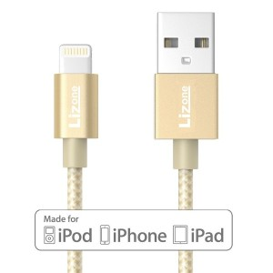 Lizone [Apple MFi公認] 2m usb lightning ケーブル (ナイロン編み)(iPhone 7 7 Plus 6s、6s Plus、6、6 Plus、5s、5c、 5...