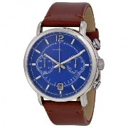 マークバイマークジェイコブス Marc by Marc Jacobs Men's MBM5066 Fergus Stainless Steel Watch with Brown Leather...
