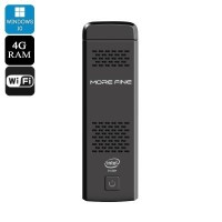 MoreFine M1s Windows ポケット ミニ PC - RAM: 4GB , ROM: 64GB , Windows 10 , Cherry Trail Z8300 CPU , Dual...