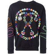 Moschino mirror embroidered sweatshirt
