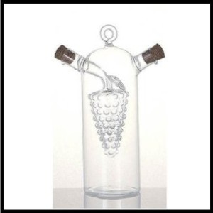 Glass grape cruet