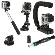 Sunpak ACTION-5 Action Camera Accessory Kit (Black) [並行輸入品]
