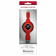 NISSAN 公式ライセンス品 FAIRLADY Z CHARGE & SYNC USB REEL CABLE FOR IPHONE RED NZMUJ-R1RD
