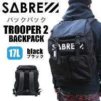 SABRE セイバー バックパック リュック TROOPER 2 BACKPACK 17L カラー BLACK 【セイバー バッグ 鞄】【ストリート バックパック】【日本正規品】【あす楽】