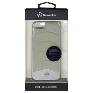 MERCEDES WAVE III Genuine Leather + Brushed Aluminium Hard Case - Crystal Grey MEHCP7CUSGR