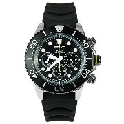 Seiko Men's SSC021 Solar Diver Chronograph Watch [並行輸入品]