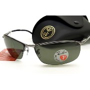【RayBan】 レイバン 偏光サングラス RB3183-004/9A 8カーブ フチナシ 正規品