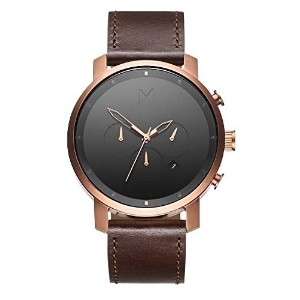MVMT Watchesメンズ腕時計CHRONO ROSE GOLD/BROWN LEATHER