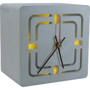 HOUSE USE PRODUCTS(ハウスユーズプロダクツ) 置時計 LIGHT-UP DESK CLOCK RENO GRAY HFT160 [正規代理店品]
