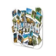 壁時計 Wall Clock Globetrotter Hawaii Printed Acryl Plexiglass