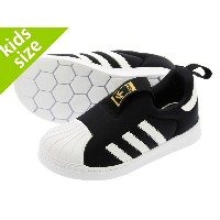 【キッズ サイズ】【11cm-16.5cm】 adidas STAN SMITH 360 I 【adidas Originals】 アディダス スタンスミス 360 I BLACK/WHITE
