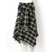 AULA CHECK SHIRT SKIRT アウラ【送料無料】