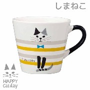 DECOLE 「HAPPY Cat day」 HAPPY CAT マグ (しま猫)