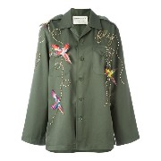 Night Market bird embroidered jacket