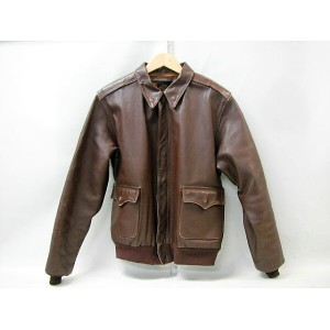 J.A.DUBOW A-2 フライトJKT size:44 ミリタリー military エアーフォース AIRFORCE 革 ハイド ブラウン 茶