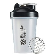 Blender Bottle(ブレンダーボトル) Classic Clear(クラシッククリア) 20オンス(600ml) BBCL20 BK ブラック