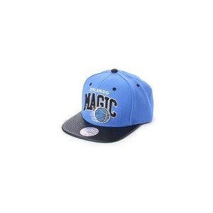 【SALE 40%OFF】ミッチェル アンド ネス MITCHEL & NESS atmos ARCH LEATHER VISOR SNAPBACK (BLUE)