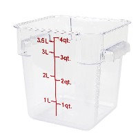 Excellante 4-Quart Polycarbonate Square Food Storage Containers, Clear by Excellant