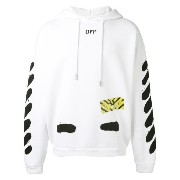 Off-White ストライププリント パーカー