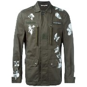 Valentino butterfly and floral print military jacket