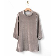 【SALE(伊勢丹)】<Ready for the Weekend> ベロアワンピース グレー キッズファッション~~ワンピース