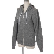(アメリカンアパレル)American Apparel MT497 Unisex Salt and Pepper Zip Hoody パーカー 430/Zinc S [並行輸入品]