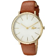 [ラコステ]Lacoste 腕時計 Quartz GoldTone and Leather Automatic Watch, Color:Brown 2000947 レディース [並行輸入品]