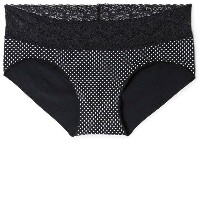 ロージー Rosie Pope レディース インナー パンティー【Seamless Hipster Panties with Lace】Black Pin Dot