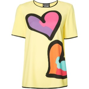 Boutique Moschino - ハートプリント Tシャツ - women - ポリエステル/other fibers - 40