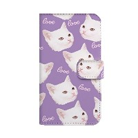 KWH(ケーダブルエイチ) / BOOKCASE Lovely Cat【iPhone6専用手帳型ケース】[AB-0065-IP06-A]