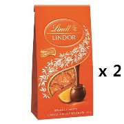 リンツ(Lindt) Lindor Chocolate Gift Box Milk Orange pouch 123g 2ea [海外直送] [並行輸入品]