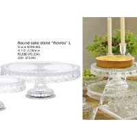 "[DULTON]ダルトン Glass Round cake stand ""Revres"" L S215-34L"