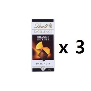 リンツ(Lindt) Chocolate Block Excellence Intense Orange 100g 3EA [海外直送] [並行輸入品]