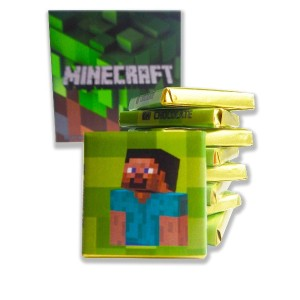 "Unique gift ( チョコレートの誕生日の贈り物) ""MINECRAFT""! Popular video game - chocolate edition!"