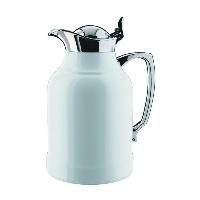 Alfi Opal White Lacquered Brass with Chrome Thermal Carafe, 33-Ounce by Alfi Carafes