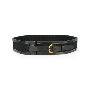 Isabel Marant - buckle front waist belt - women - コットン/レザー - M