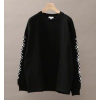 BY プリントスリーブ Tシャツ【ビューティアンドユース ユナイテッドアローズ/BEAUTY&YOUTH UNITED ARROWS Tシャツ・カットソー】